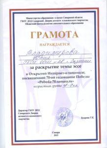 Владимирова Юлия